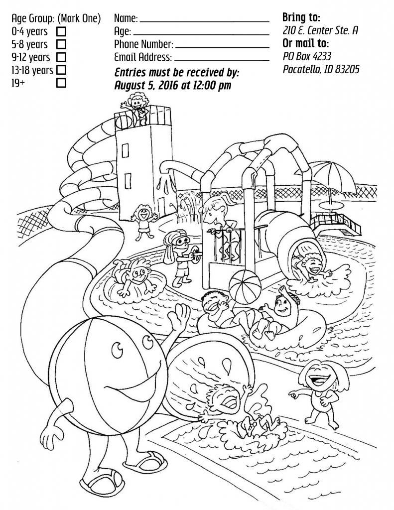 water splash coloring pages - photo#14